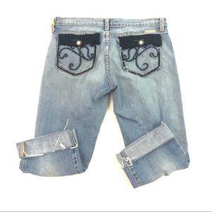 Just USA Juniors Blue Capri Jeans 9